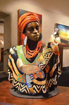 Ceramic Sculptures by Woodrow Nash Ceramic Figures, Ceramic Art, African Sculptures, Africa Art, Sculpture Clay, Ceramic Sculptures, Black Women Art, African American Art, Black Artists