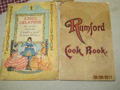 Vintage 1933 Knox Gelatine & 1922 Rumford Baking Soda Cook Book Recipe Advertising Booklets Nice Graphics by EvenTheKitchenSinkOH on Etsy