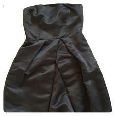 Express satin dress Strapless dress, black satin material. Express Dresses Strapless