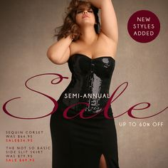 New styles added to the Semi-Annual #sale - Up to 60% off gorgeous plus size lingerie, corsets & more!