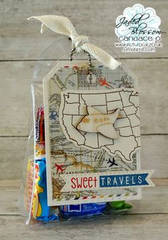 Welcome to our second day of Jaded Blossom Release Week ! Today we are sharing projects made with Two New Stamp se. Travel Stamp, Travel Cards, Around The World Theme, United States Map, O Design, Treat Holder, State Map, Travel Themes, Party Themes