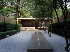 Minimalism to the max: Elegant, structured outdoor spaces are anything but austere when combined with lush, statement greenery. Tim Richardson reveals a generous new approach to geometric garden design Detail Architecture, Landscape Architecture, Landscape Design, Small Gardens, Outdoor Gardens, Design Exterior, Minimalist Garden, Contemporary Garden, Water Garden