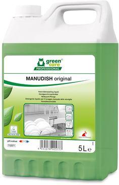 Tana Manudish este un detergent ecologic foarte eficient pentru spalarea manuala a vaselor, fabricat in principal din materii prime din resurse regenerabile.