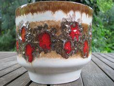 Vintage Fat Lava Planter Vase 1960s VEB Strehla – East (!) German Pottery GDR Modernist von everglaze auf Etsy