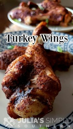Roasted Turkey Wings Recipe, Baked Turkey Wings, Thanksgiving Side Dishes, Thanksgiving Recipes, Holiday Recipes, Turkey Recipes, Stuffing Recipes, Fast Dinners, Wing Recipes