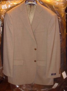 346 Brooks Brothers Stretch Taupe Gray Brown Blazer Jacket Size 41 S New W Tag #346BrooksBrothers #TwoButton