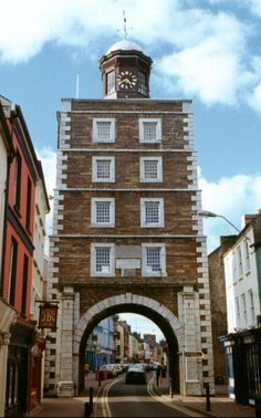 Youghal, Co. Cork, Ireland...In 1777, the town's Clock Gate was built on the site of Trinity Castle, part of the town's fortifications. The Clock Gate served the town as gaol and public gallows until 1837; prisoners were executed by being hanged from the windows.