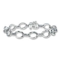 Sterling Silver 1/10 Carat t.w. Diamond Bangle Bracelet