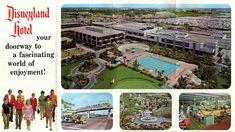The Disneyland Hotel – A Mid-Century Classic Hotels Near Disneyland, Disneyland Castle, Disneyland Times, Vintage Disney Posters, Vintage Disneyland, Disney Fun, Disney Parks, Walt Disney Imagineering, Anaheim California