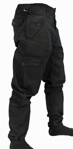 WWK Mens/Kids Army Combat Work Trousers Pants Combats Cargo Pockets Heavy Duty