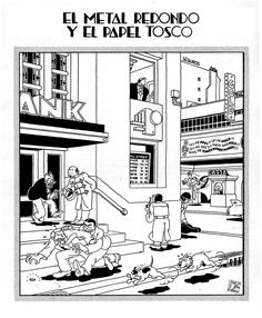 Artist = Joost Swarte. Dutch cartoonist and graphic designer. Famous proponent of ligne claire style. His work is an excellent reference for me. Note how he often adopts a top down view. This is something I've not done but could explore for this third project. (viewed 1/4/15 -)