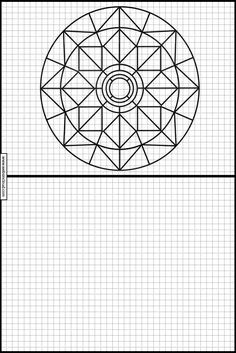Graph Paper Drawings, Mandala Dots, Geometric Art, Phonics, Geometry, Creations, Printables, Math, School