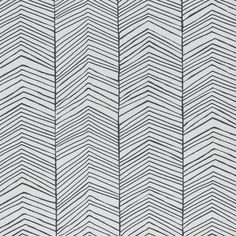 Ferm Living Behang Herringbone zwart wit 10x0.53cm - wonenmetlef.nl