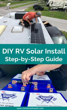 How to add solar energy to a DIY motorhome or motorhome. Tips for finding the best solar pa .How to add solar energy to a DIY motorhome or motorhome. Tips for finding the best solar Rv Camping, Camping Hacks, Rv Hacks, Camping Ideas, Glamping, Solar Camping, Airstream Camping, Camping Style, Camping Supplies