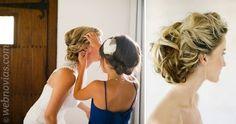 Peinados para novias con el pelo rizado www.webnovias.com/blog