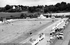 Letchworth Garden City, The Swimming Pool c.1950. I swam here during the brief summer months.
