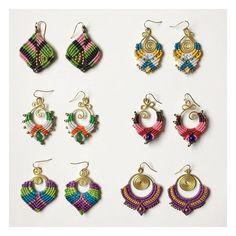 A selection of our #vibrant macrame earrings ✨✨ #boho #bohemian #hippy #hippie…