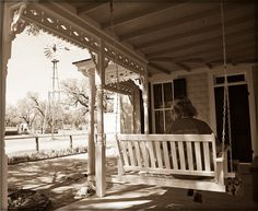 grandma had a porch swing and a windmill