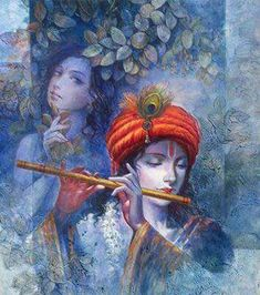 Shilpanjali- Art of Contemporary Bengal' Lord Krishna Images, Radha Krishna Pictures, Radha Krishna Love, Krishna Photos, Baby Krishna, Krishna Leela, Jai Shree Krishna, Radhe Krishna, Iskcon Krishna