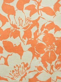 PEONY CLEMENTINE #orange-rust #print-fabrics #various