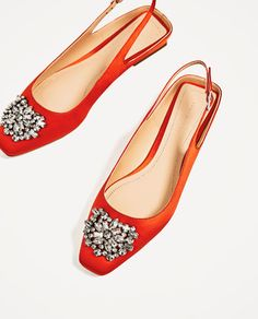 Image 7 of FLAT SLINGBACK SHOES WITH BEADED DETAIL from Zara