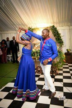 Pedi Traditional Attire, Sepedi Traditional Dresses, South African Traditional Dresses, Traditional Wedding Attire, African Traditional Wedding, African Wear, African Dress, Shweshwe Dresses, Fashion Couple