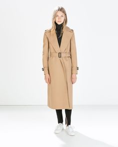 Image 1 of LONG COTTON TRENCHCOAT from Zara