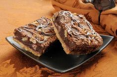 Chocolate Nutty Goodness: Walnut And Fudge Brownie Shortbread Bars   12 Tomatoes