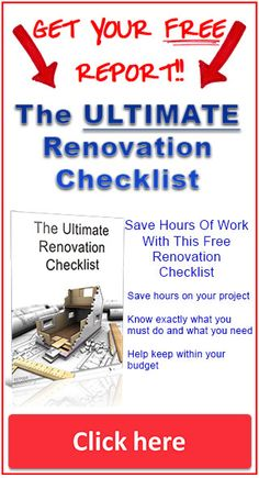 The ULTIMATE renovation checklist. A room by room renovation project checklist to help you work out exactly what needs to be done, the priorities and a structure to stay within budget. FREE