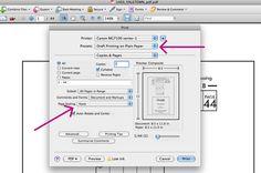 Printing&cutting PDF pattern tips. draft-printing