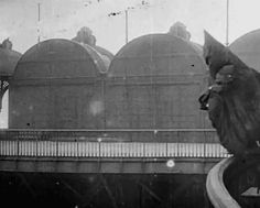 Franz Reichelt jumps off the Eiffel Towerwearing the parachute that he designed and invented. (Needless to say that he died.)  February 4th 1912, Paris, France.