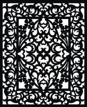 Vectorized fretwork pattern