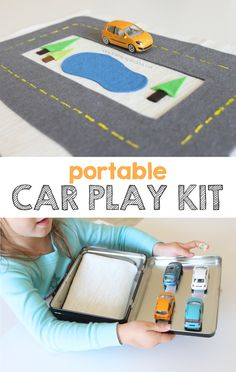 Love this portable car kit - another great gift for entertaining kids on the go. And it doesn't require sewing! Perfect!