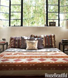 Adding Color Without Painting: Rooms with Colorful Pillows & Throws