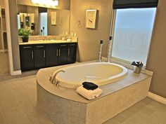 Can you picture yourself relaxing in this beautiful tub? #tubtherapy