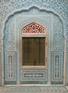 Samode Palace, India. Inside window of Samode Palace. Beautiful! www.shelleycoar.com
