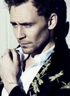 Tom Hiddleston in Flaunt Mag | We love our Brits!- okay, not gonna lie.  He is extremely attractive in this photo......