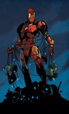 Iron Man by Pepe Larraz Marvel Dc Comics, Marvel Heroes, Marvel Characters, Marvel Avengers, Marvel Art, Comic Books Art, Comic Art, Les Innocents, D Mark