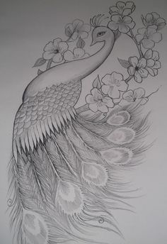 I want something like this on my right shoulder blade. I have been searching for an awesome peacock.....    Girly Peacock Tattoo Design by ~EmilyB3545 on deviantART next tattoo? But with color?