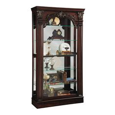 Curios Traditional Style Sliding Front Curio Cabinet by Pulaski Furniture at Steger's Furniture Living Room Cabinets, Living Room Furniture, Corner Curio, Pulaski Furniture, China Display, Cabinets For Sale, Solid Wood Furniture, Furniture Ideas, Dream Wall