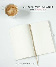Hoy te traigo 14 ideas para darle utilidad a ese cuaderno o libreta que tanto te gusta, desde tu diario hasta un cuaderno de cocina, a garabatear!