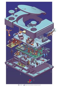""""""" And a PlayStation"""" Final Fantasy, Consoles, Playstation, Xbox 360, Exploded View, Gaming Wallpapers, Geek Art, Video Game Art, Game Design"""