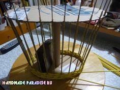 Как сделать форму для плетения корзинки из газет (9)