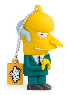 Mr Burns - Officially licensed USB flash drive, available in 8GB and 16GB USB 2.0 and 16GB USB 3.0