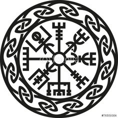 Vector: Vegvísir, Iceland, Protection Compass