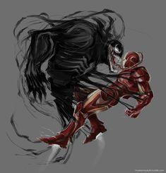 Iron man vs Venom by ~maXKennedy on deviantART