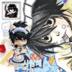 L Icon, Light Icon, L Death Note, L Lawliet, Phone Themes, Cute Anime Chibi, Anime Best Friends, Anime Dolls, Cute Icons