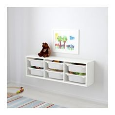 IKEA - TROFAST, Wall storage, , A playful and sturdy storage series for storing and organizing toys.Practical storage for small things.