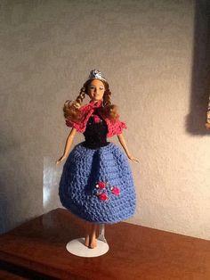 Frozen Princess Anna Crochet made for Miss Dylan Frozen Princess, Princess Anna, Crochet Barbie Clothes, Doll Clothes, Frozen Crochet, Crochet Princess, Barbie Patterns, Barbie Dolls, Crochet Earrings