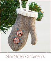 DIY Tutorials. Mitten Ornaments. http://www.cremedelacraft.com/p/diy-tutorials.html